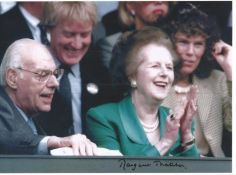 Margaret Thatcher signed 12x8 colour photo. All autographs come with a Certificate of