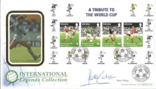 Peter Shilton signed A Tribute to the World Cup FDC. All autographs come with a Certificate of
