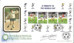 Norman Hunter signed A Tribute to the World Cup FDC. All autographs come with a Certificate of