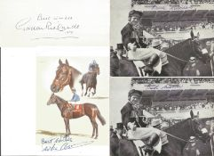 Horse racing collection. 12 items. Mainly 6x4 photos. Among the names are Willie Carson, Stan