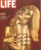 007 Bond girl, lovely 8x10 photo signed by Goldfinger actress Shirley Eaton who has also added her