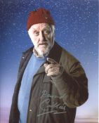 Doctor Who 8x10 montage photo signed by actor Bernard Cribbins as Wilf Mott. All autographs come