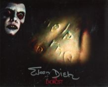 The Exorcist 8x10 horror movie photo signed by actress Eileen Dietz who played the demon in this