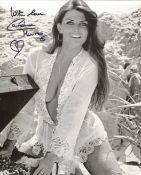 007 Bond girl. The Spy Who Loved Me actress Caroline Munro signed 8x10 photo. All autographs come