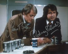 The Likely Lads 8x10 comedy series photo signed by James Bolam and the late Rodney Bewes. All
