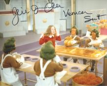 Willy Wonka 8x10 movie scene photo signed by actress Julie Dawn Cole who played Veruca Salt. All