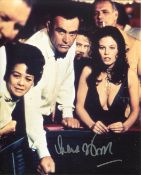 007 James Bond girl Lana wood signed 8x10 photo from the Bond movie Diamonds Are Forever. All