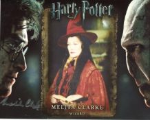 Harry Potter. 8x10 Harry Potter movie photo signed by actress Melita Clarke as a Wizard. All