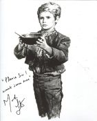 Oliver! 8x10 inch photo from one of the great British musicals, signed by actor Mark Lester who