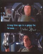 Star Wars 8x10 movie scene montage photo signed by actor Julian Glover as General Veers. All