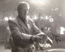 Indiana Jones & The last Crusade 8x10 scene photo signed by actor Julian Glover. All autographs come