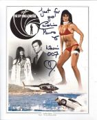 007 Bond girl. The Spy Who Loved Me actress Caroline Munro signed 8x10 montage photo. All autographs