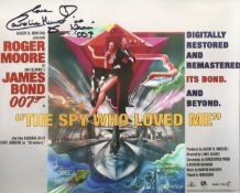 007 Bond girl. The Spy Who Loved Me actress Caroline Munro signed 8x10 photo of the poster for