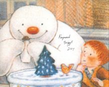 The Snowman 8x10 photo from the classic Christmas movie 'The Snowman' signed by Raymond Briggs.
