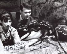 Doctor Who 8x10 scene photo signed by actors William Russell and Carole Ann Ford. All autographs