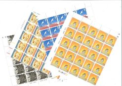Great Britain stamp collection 4 unmounted mint sheets 1995 Europe Peace and Freedom includes SG1873