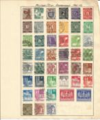 German stamp collection Military /Civil Government dating 1946 to 1949 1one loose page 47 stamps. We