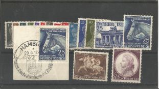 German stamp collection 1 stock card 17 stamps dated 1941 catalogue value £32. We combine postage on
