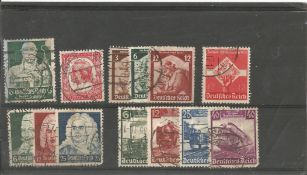 German stamp collection 1 stock card 13 stamps dated 1934/1935. We combine postage on multiple