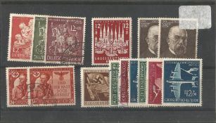 German stamp collection 1 stock card 15 stamps dated 1943/1944. We combine postage on multiple