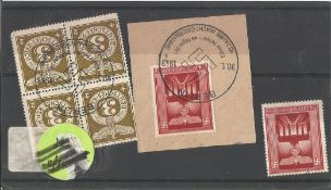 German stamp collection 1 stock card 6 stamps dated 1943. We combine postage on multiple winning