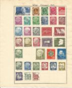 German Stamp collection include West Germany and West Berlin 3 loose album leaves 49 stamps dating