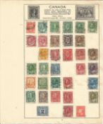 Canadian Stamp collection 6 loose album leaves vintage stamps some early material. We combine