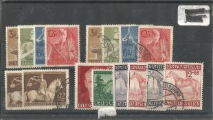 German Stamp collection 1 stock card 16 stamps dated 1943. We combine postage on multiple winning