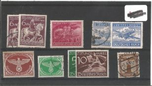 German stamps collection 1 stock card 10 stamps dated 1942/1945. We combine postage on multiple