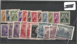 German Third Reich stamp collection 1 stock card 22 stamps. We combine postage on multiple winning