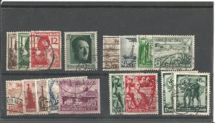 German stamp collection 1 stock card 17 stamps dated 1937/1938 catalogue value £46. We combine