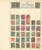 India and Burma stamp collection 5 loose album leaves of interesting stamps. We combine postage on