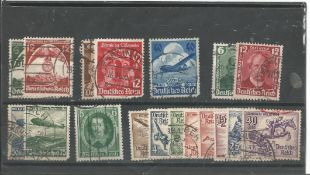 German stamp collection 1 stock card 18 stamps dated 1935/1936 catalogue value £10. We combine