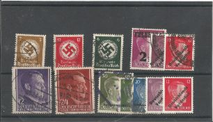 German Third Reich stamp collection 1 stock card 13 stamps. We combine postage on multiple winning