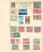 St Kits Nevis stamp collection 1 loose album leave 19 stamps some rare. We combine postage on
