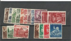 German stamp collection 1 stock card 18 stamps dated 1940/1941 catalogue value £42. We combine