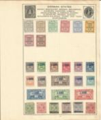 German stamp collection 1 loose page 28 vintage stamps includes Wurttemberg etc. We combine
