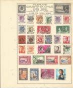 Hong Kong Stamp collection 2 loose album leaves includes mint SG 163/168 catalogue value £20. We