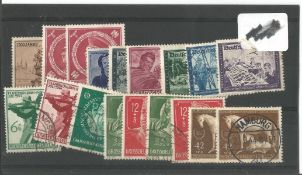 German stamps collection 1 stock card 18 stamps dated 1944. We combine postage on multiple winning