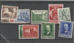 German stamp collection 1 stock card 11 stamps dated 1940 catalogue value £69. We combine postage on