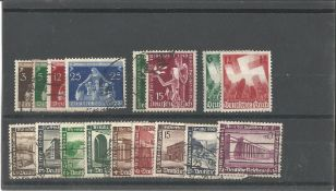 German Stamp collection 1 stock card 17 stamps dated 1936 catalogue value £43. We combine postage on