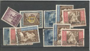 German stamp collection 1 stock card 11 stamps dated 1942 catalogue value £30. We combine postage on