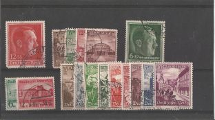 German stamp collection 1 stock card 17 stamps dated 1938 catalogue £65. We combine postage on