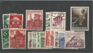 German stamp collection 1 stock card 17 stamps dated 1939 catalogue value £74. We combine postage on