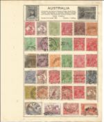 Australian stamp collection 7 full loose pages of interesting stamps dating back to prior 1950. We