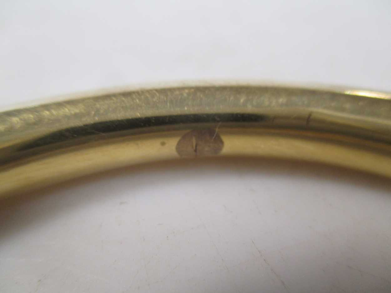 A slave bangle, tests to 18ct 30.7g - Image 2 of 2