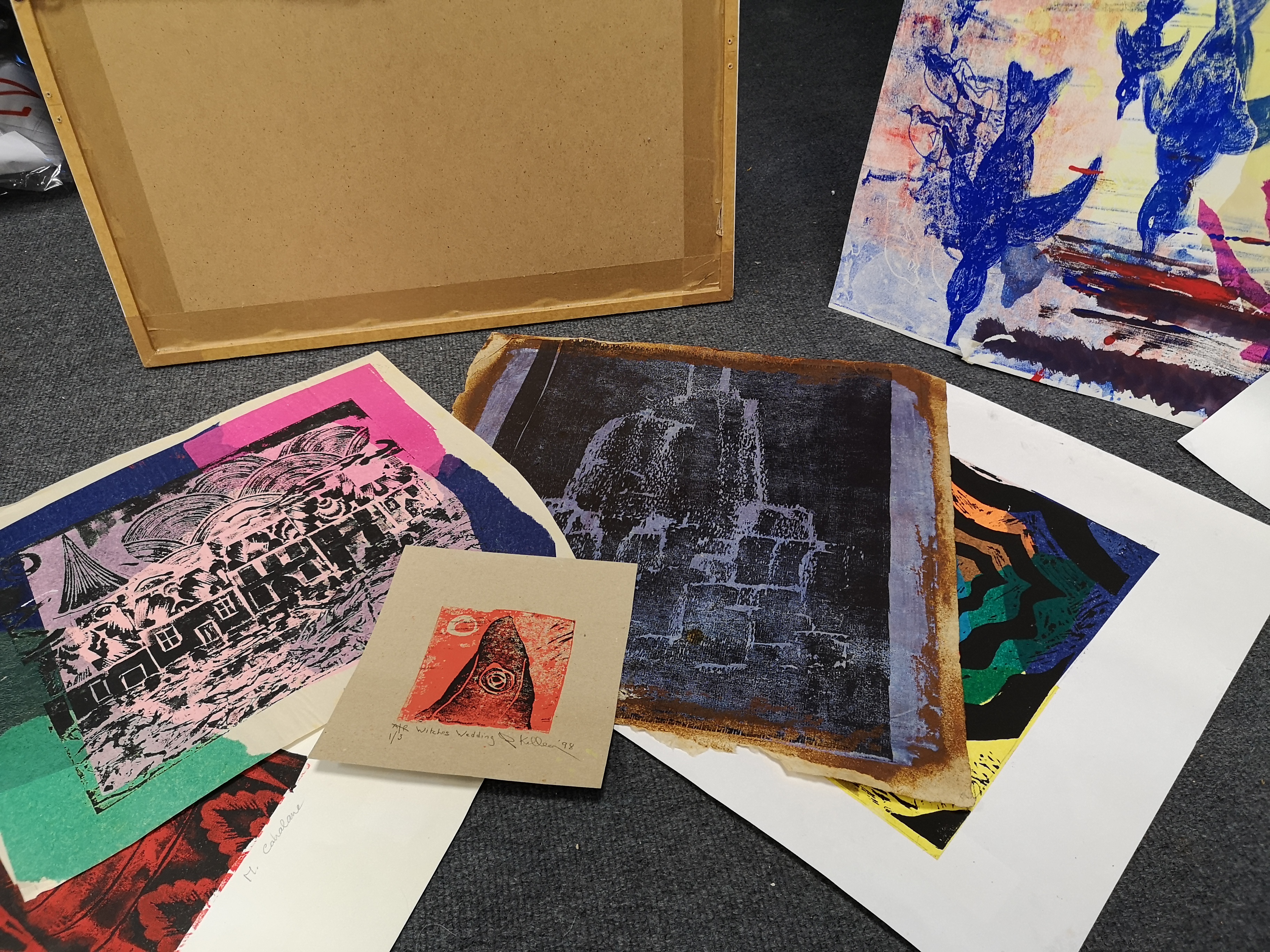 Lot 58 - A folio of various unframed prints, to include works by: