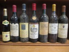 Bordeaux red and others. Chauteau Rausan Segla 1974, Chateau Smith Haut Lafitte 1981, Chateau