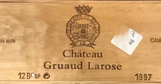 Chateau Gruaud Larose, St Julien 2eme Cru 1997, 12 bottlesCondition report: removed from storage