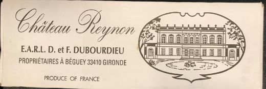 Chateau Reynon, 1er Cotes de Bordeaux 2001, 12 bottlesCondition report: removed from storage at